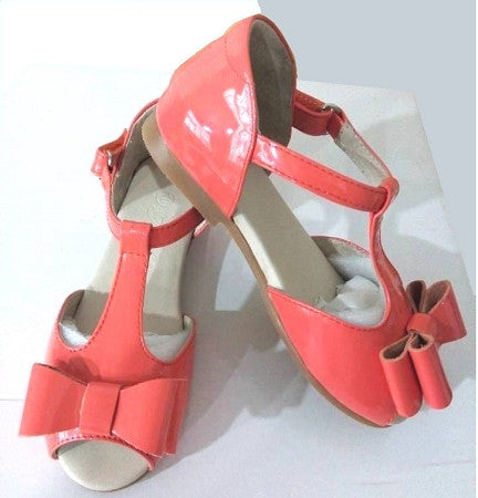 The Louise Bow Sandals - Coral