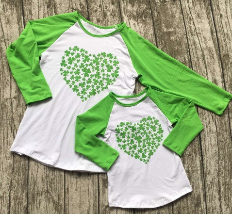 Clover on Heart Mommy and Me Top