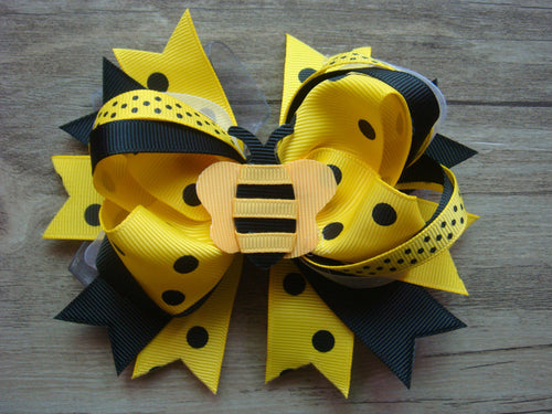 Bumble Bee Sculptured 5.5in Boutique Bow