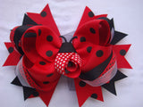 Lady Bug Sculptured 5.5in Boutique Bow - Gabskia