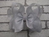 Metallic 6in Bow w/Rhinestone Center (more colors) - Gabskia