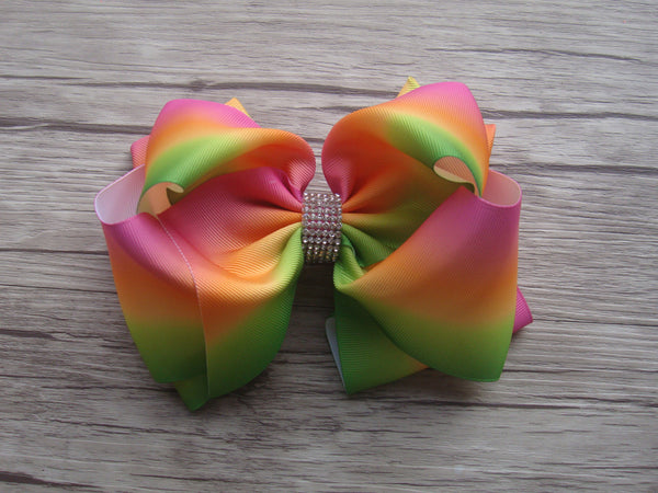 Double Loop 8in Printed Bows - Gabskia