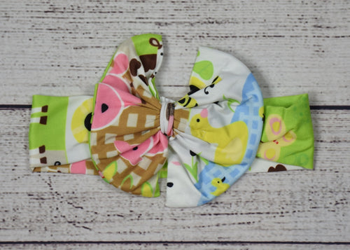 Farm Girl Cotton Big Bow Headband - Gabskia