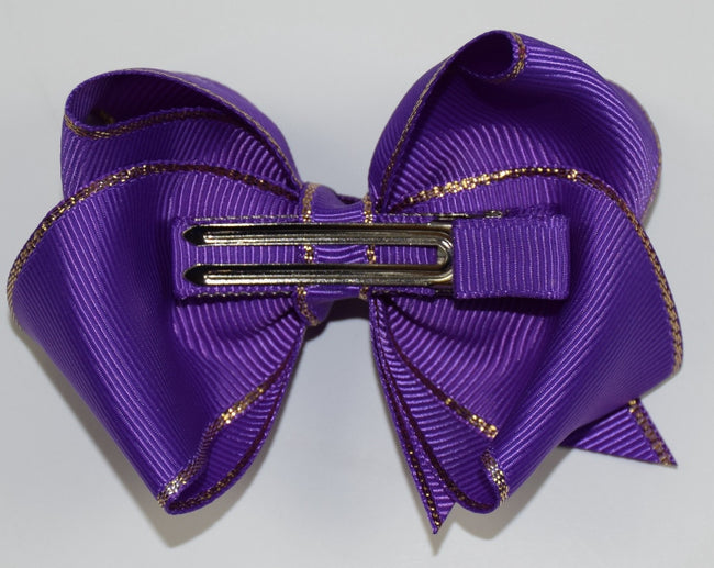 3.5in Gold Edge Chunky Bows (9 colors) - Gabskia