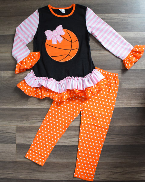 Basketball 2pc Ruffled Outfit - Gabskia