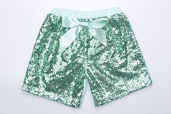 Sequin Shorts - Aqua