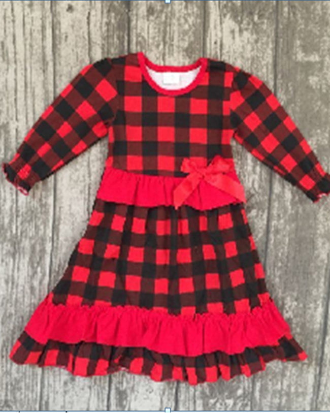 Buffalo Plaid Mommy and Me Maxi Dress - Gabskia