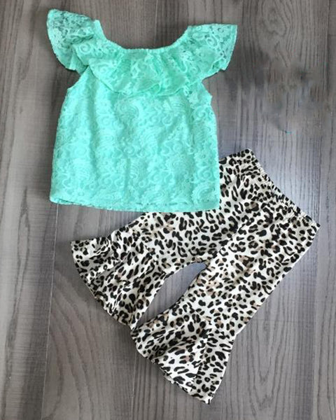 Snow Leopard and Tropic Lace 2pc Outfit