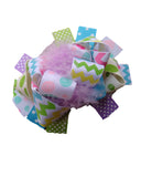 Pastel Chevron and Dots 5.5 Marabou Boutique Bow - Gabskia
