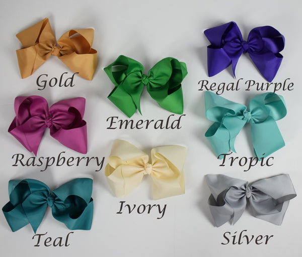 9in Chunky Bows - (More Colors) - Gabskia