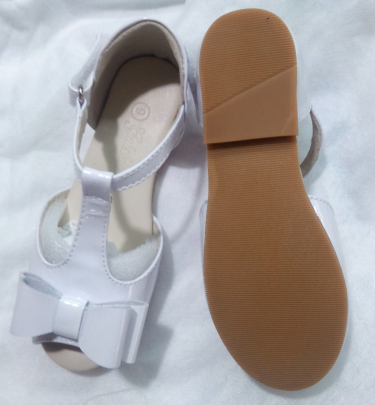 The Louise Bow Sandals - White