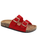 Birken Style Double Buckle - Adult Red - Gabskia
