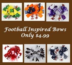 Team Inspired 6in Marabou Boutique Bows