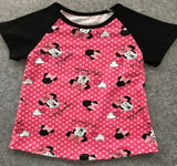 Hot Pink Minnie Inspired Top - Gabskia