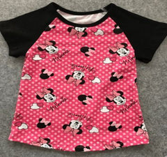 Hot Pink Minnie Inspired Top