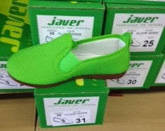 Javer/Flossy Canvas Shoes Kids - Lime Green - Gabskia