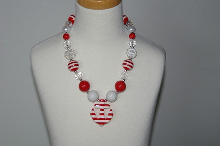 Red Anchor Chunky Necklace - Gabskia