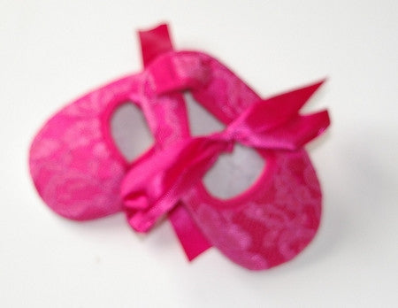 Hot Pink Lace Crib Shoes - Gabskia