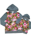 Leopard and Floral Mommy and Me Hooded Top (Sold Separately)