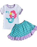 Mermaid 2pc Skirt Set - Gabskia