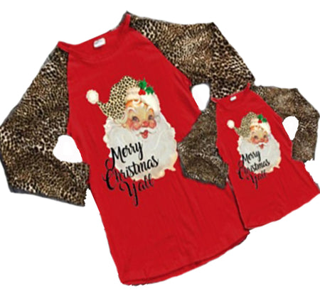 Merry Christmas Gray Mommy and Me Top (Sold Separately)