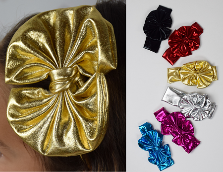 Metallic Big Bow Headband (More Colors) - Gabskia