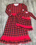 Buffalo Plaid Mommy and Me Maxi Dress