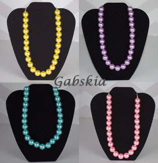 Pearl Chunky Necklace (More Colors) - Gabskia