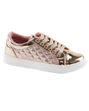 Metallic Round Toe Sneakers -Little/Big Girl Sizes - Gabskia