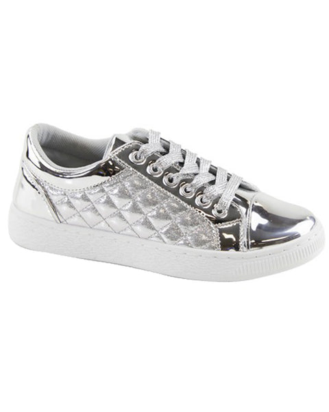 Metallic Round Toe Sneakers -Adult Sizes - Gabskia