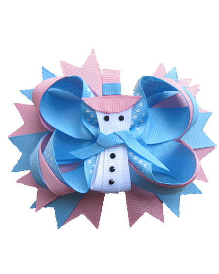 Unicorn 8in Bow w/Rhinestone Center