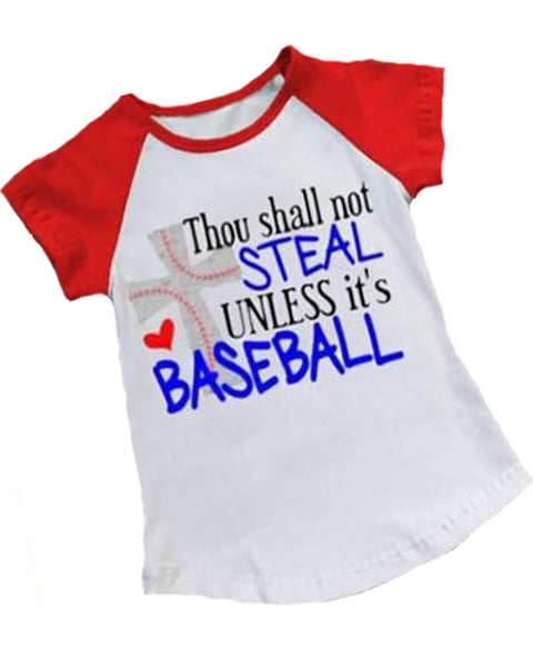 Thou Shall Not Steal Raglan Top - Gabskia