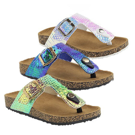 Glitter Slide Sandals - Kids (Toddler - Kid Sizes)
