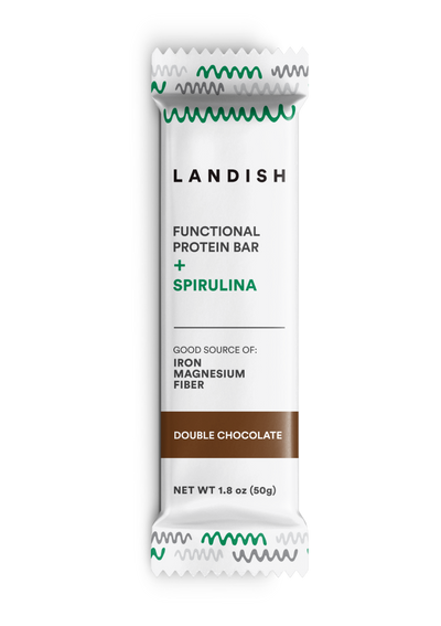 Functional Protein Bar Made With Spirulina Double Chocolate