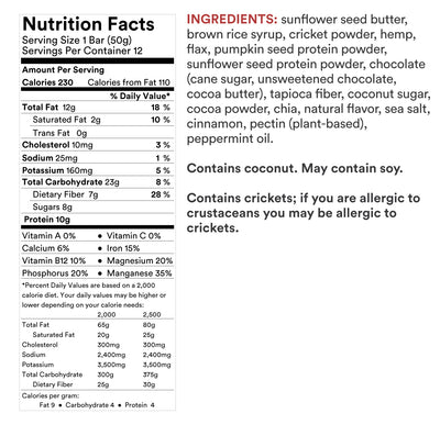 Cricket Protein Bar - Mint Chocolate