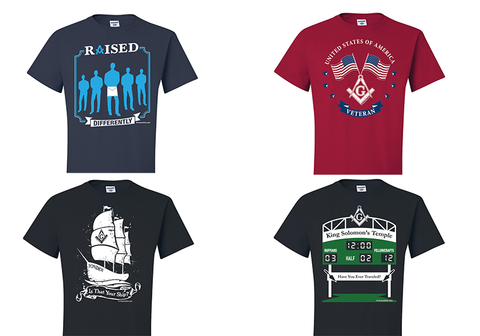 Sign up for a chance to win a masonic tshirt