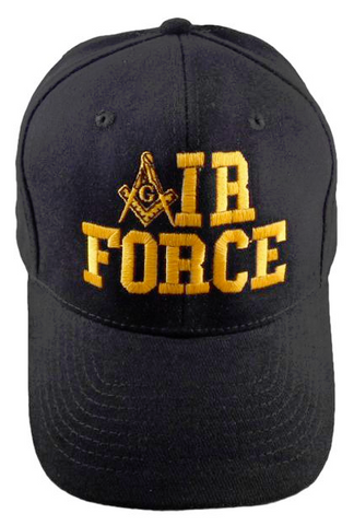 Masonic Baseball Cap - Air Force Black