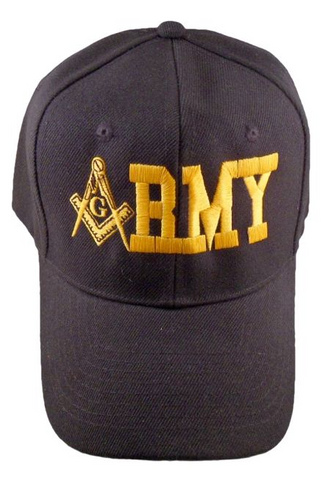 Masonic Baseball Cap - Army Black