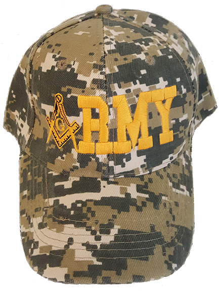 Masonic Baseball Cap - Army Mason Digital Camo