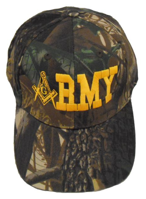 Masonic Baseball Cap - Army Mason Oak Camo