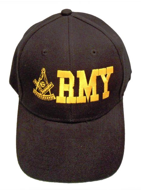Masonic Baseball Cap - Army Past Master - Black