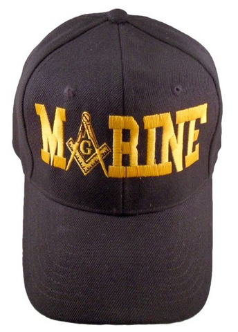 Masonic Baseball Cap - Marines Black