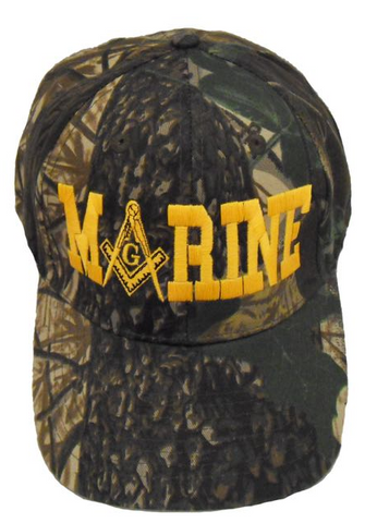 Masonic Baseball Cap - Marines Oak Camo