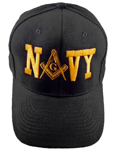 Masonic Baseball Cap - Navy Black