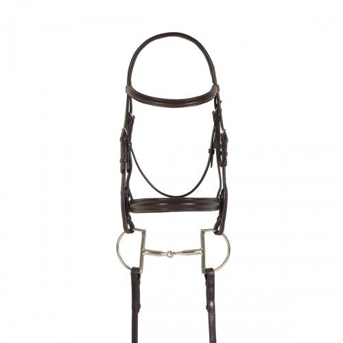 Ovation Cob Plain Raised Bridle (Brown)