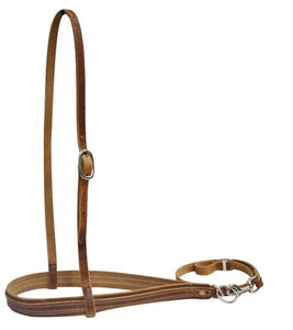 Harness Leather Nose Band w/ Removable Tie Down