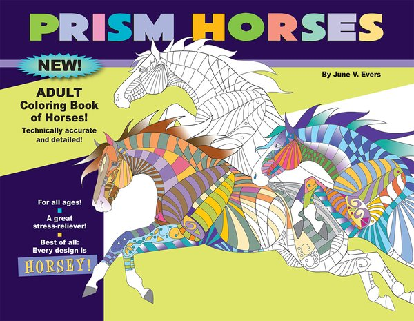 Prism Horses Adult Coloring Book