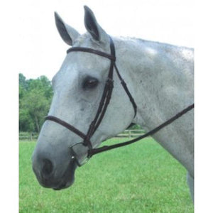 Collegiate Plain Raised Black Horse Sized Bridle