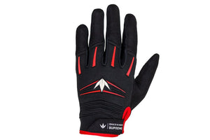 Photos of Bunkerkings Supreme Paintball Gloves - Red - Large/XL. Photo taken by drpaintball.com
