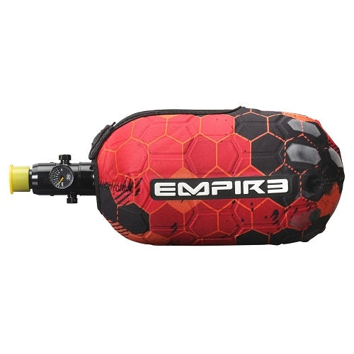 Photos of Empire Bottle Glove FT Tank Cover - Red Hex. Photo taken by drpaintball.com